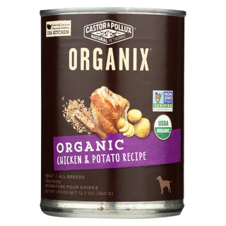 Castor And Pollux Organic Dog Food - Chicken And Potatoes - Case Of 12 - 12.7 Oz.