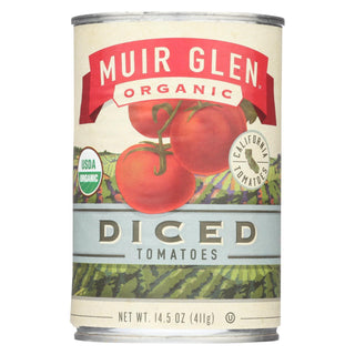 Muir Glen Organic Tomatoes Diced - Tomatoes - Case Of 12 - 14.5 Oz.