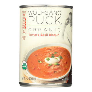 Wolfgang Puck Organic Classic Tomato Basil Bisque - Case Of 12 - 14.5 Oz.