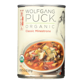 Wolfgang Puck Organic Classic Minestrone Soup - Case Of 12 - 14.5 Oz.