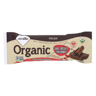 Nugo Nutrition Bar - Organic Dark Chocolate Pomegranate - 50 Grm - Case Of 12
