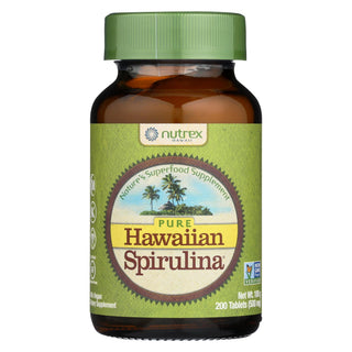 Nutrex Hawaii Pure Hawaiian Spirulina Pacifica - 500 Mg - 200 Tablets