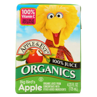 Apple And Eve Sesame Street 100 Percent Juice - Big Bird's Apple - Case Of 9 - 125 Ml