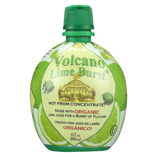 Volcano Bursts Lime Burst - Organic Lime - Case Of 12 - 200 Ml