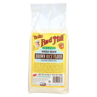Bob's Red Mill - 100% Organic Brown Rice Flour - Case Of 4 - 24 Oz