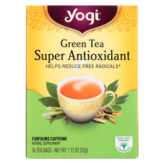 Yogi Green Tea Super Anti-oxidant - 16 Tea Bags - Case Of 6