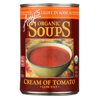 Amy's - Organic Low Sodium Cream Of Tomato Soup - Case Of 12 - 14.5 Oz