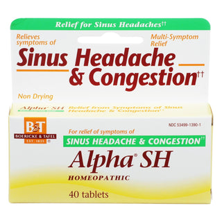 Boericke And Tafel - Alpha Sh Sinus Headache - 40 Tablets