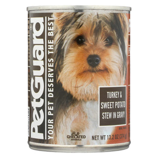 Petguard Dog Foods - Turkey And Sweet Potato Stew In Gravy - Case Of 12 - 13.2 Oz.