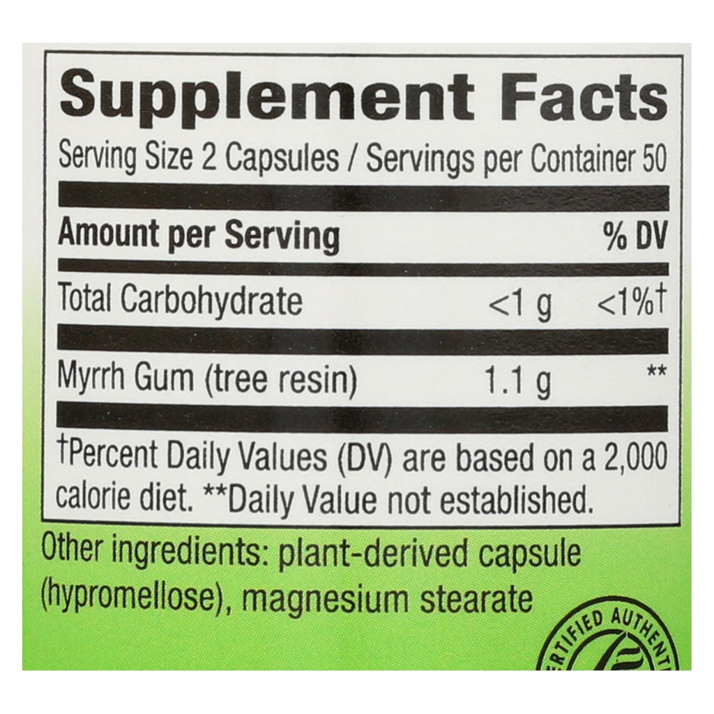 Nature's Way - Myrrh Gum - 550 Mg - 100 Capsules