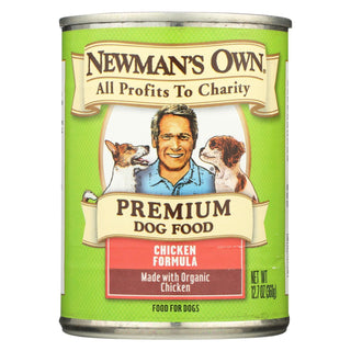 Newman's Own Organics Organic Dog Food Can - Chicken - Case Of 12 - 12.7 Oz.
