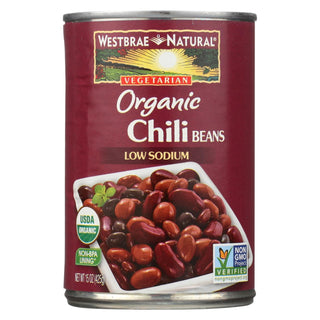 Westbrae Foods Organic Chili Beans - Case Of 12 - 15 Oz.
