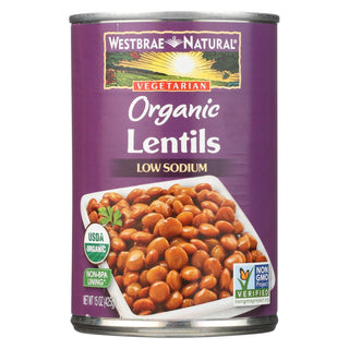Westbrae Foods Organic Lentils Beans - Case Of 12 - 15 Oz.