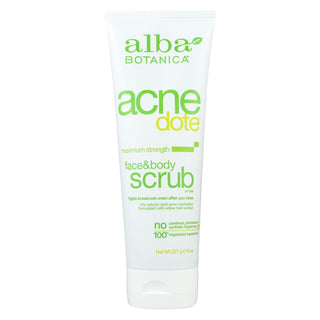 Alba Botanica - Natural Acnedote Face And Body Scrub - 8 Fl Oz