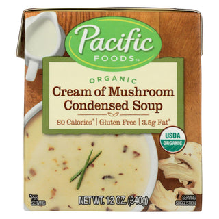 Pacific Natural Foods Condensed Soup - Cream Of Mushroom - Case Of 12 - 12 Oz.