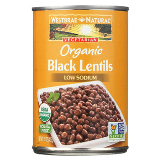 Westbrae Foods Organic Black Lentils Beans - Case Of 12 - 15 Oz.