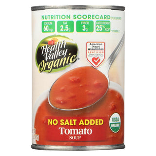 Health Valley Organic Soup - Tomato No Salt Added - Case Of 12 - 15 Oz.