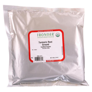 Frontier Herb Turmeric Root - Organic - Powder - Ground - Bulk - 1 Lb