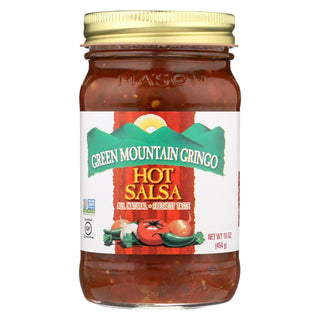 Green Mountain Gringo Salsa - Hot - Case Of 6 - 16 Oz