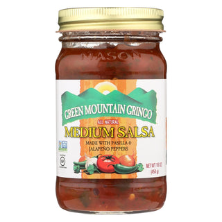 Green Mountain Gringo Salsa - Medium - Case Of 6 - 16 Oz.