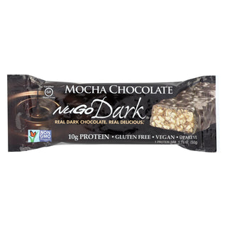 Nugo Nutrition Bar - Dark - Mocha Chocolate - 50 G - Case Of 12