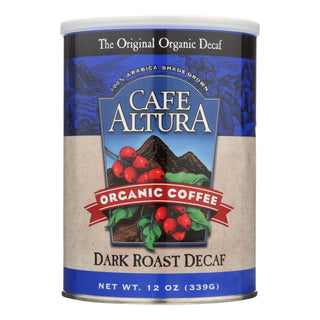 Cafe Altura Dark Roast Ground Decaf Organic  - Case Of 6 - 12 Oz