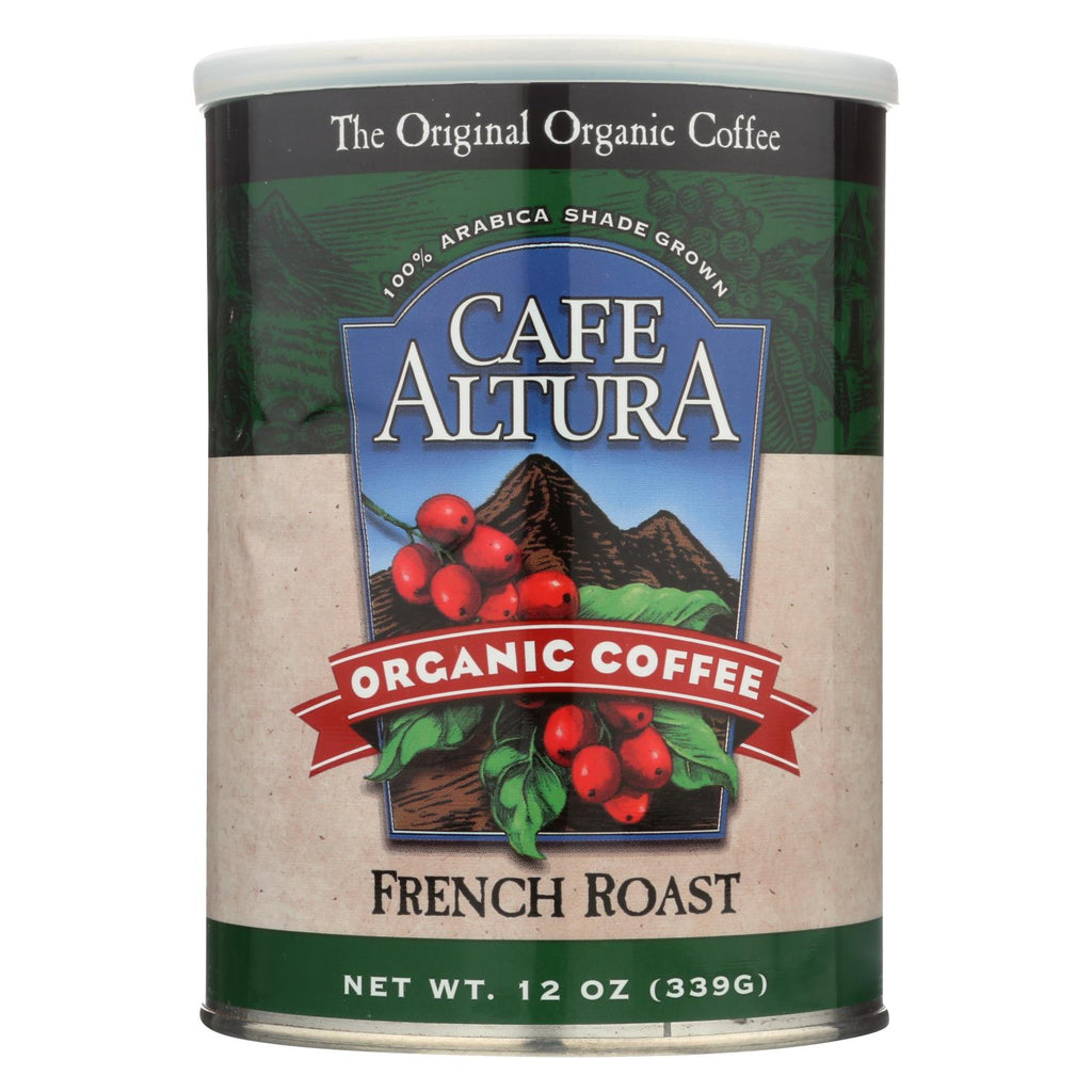 Cafe Altura - Organic Ground Coffee - French Roast - Case Of 6 - 12 Oz.