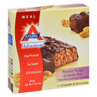 Atkins Advantage Bar Peanut Fudge Granola - 5 Bars