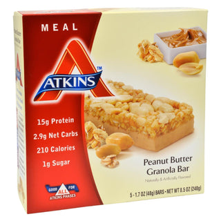 Atkins Advantage Bar Peanut Butter Granola - 5 Bars