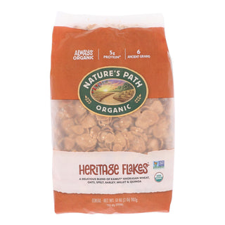 Nature's Path Organic Heritage Flakes Cereal - Case Of 6 - 32 Oz.
