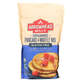 Arrowhead Mills - Organic Pancake And Waffle Mix - Case Of 6 - 26 Oz.