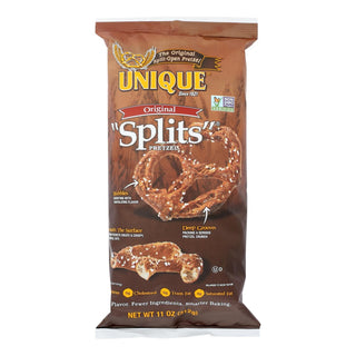 Unique Pretzels - Pretzel Splits - Original - Case Of 12 - 11 Oz.