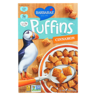 Barbara's Bakery - Puffins Cereal - Cinnamon - Case Of 12 - 10 Oz.