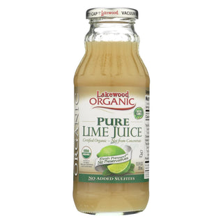 Lakewood Pure Lime Juice - Lime - Case Of 12 - 12.5 Fl Oz.