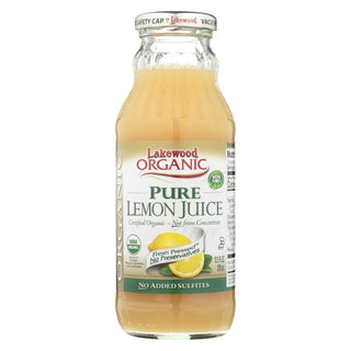 Lakewood Organic Pure Lemon - Lemon - Case Of 12 - 12.5 Fl Oz.