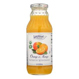 Lakewood Organic Orange Mango Juice - Mango - Case Of 12 - 12.5 Fl Oz.