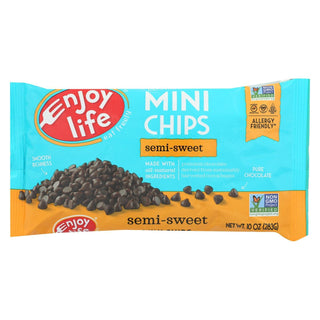 Enjoy Life - Baking Chocolate - Mini Chips - Semi-sweet - Gluten Free - 10 Oz - Case Of 12