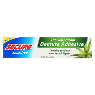 Secure Sensitive Denture Adhesive - 1.4 Oz