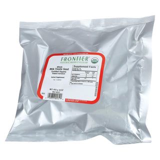 Frontier Herb Milk Thistle - Organic - Whole - Bulk - 1 Lb