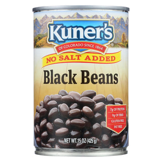 Kuner - Black Beans - No Salt Added - Case Of 12 - 15 Oz.