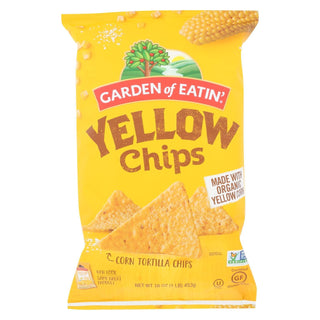 Garden Of Eatin' Yellow Corn Tortilla Chips - Tortilla Chips - Case Of 12 - 16 Oz.