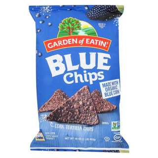 Garden Of Eatin' Blue Corn Tortilla Chips - Blue Corn - Case Of 12 - 16 Oz.