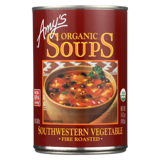 Amy's - Organic Fire Roasted Southwestern Vegetable Soup - Case Of 12 - 14.3 Oz