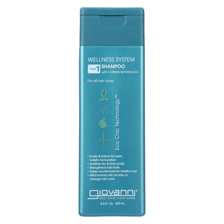 Giovanni Wellness System Step 1 Shampoo With Chinese Botanicals - 8.5 Fl Oz