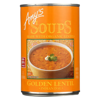 Amy's - Soup - Organic - Lentil - Golden - Case Of 12 - 14.4 Oz