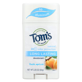 Tom's Of Maine Natural Long-lasting Deodorant Stick Apricot - 2.25 Oz - Case Of 6