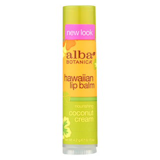 Alba Botanica - Lip Balm - Coconut Cream - Case Of 24 - .15 Oz
