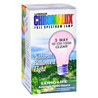 Chromalux Standard Clear 3 Way Light Bulb - 1 Bulb