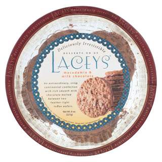 Laceys Cookies - Milk Chocolate Macadamia - Case Of 24 - 8 Oz.