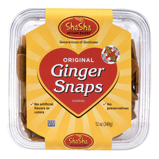 Shasha Bread Original Ginger Snap Cookies - Case Of 16 - 12 Oz